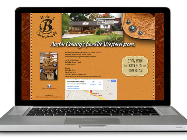 Rocking B Cowboy Supply – website graphics